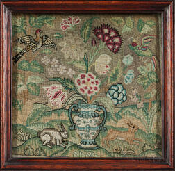 Small Early Needlework Picture