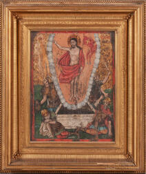Greek Icon Depicting the Resurrection