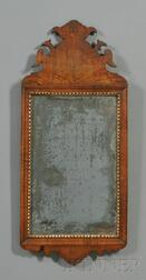 Queen Anne Walnut and Gilt Gesso Mirror