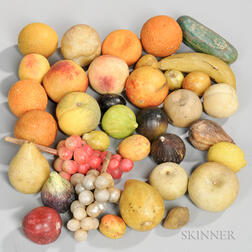 Large Group of Stone Fruit and Vegetables