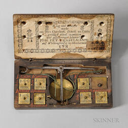 18th Century Cased Coin Balance