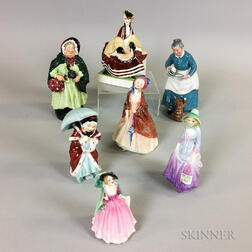 Seven Mostly Royal Doulton Ceramic Figures