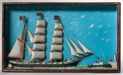 Shadow Box Sailing Ship Diorama