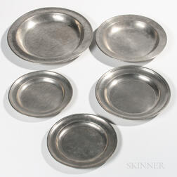 Five Pewter Plates