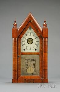 "Mahogany Sharp Gothic or ""Steeple Clock"" by Chauncey Jerome"