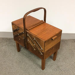Modern Footed Sewing Box