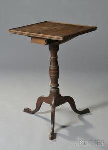 Inlaid Cherry Candlestand with Drawer