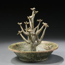 Pottery Model of a Tree in a Basin