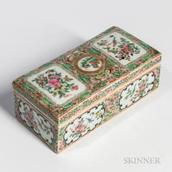 Famille Rose Export Porcelain Covered Box