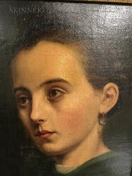 Georg Hom (German, 1838-1911)      Portrait Head of a Young Woman