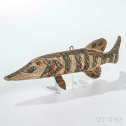 Carved and Painted Wooden Fish Decoy