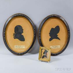 Pair of Framed George and Martha Washington Silhouettes