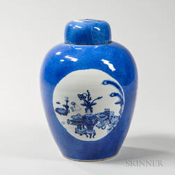 Powder Blue Covered Jar