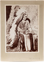 Cabinet Card Photo of Geronimo