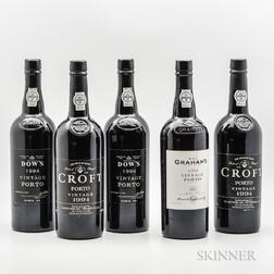 Mixed 1994 Vintage Port, 5 bottles