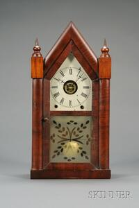 "Mahogany Sharp Gothic or ""Steeple Clock,"" Jerome and Company"
