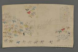 Rare Pictograph Drawing on Muslin by Chief Henry One Bull (Sitting Bull's Nephew)