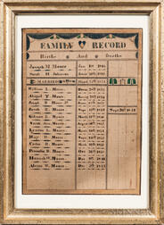 Watercolor Moore Family Record
