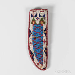 Plains Beaded Hide Knife Sheath