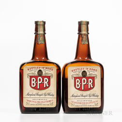 BPR Maryland Straight Rye Whiskey 5 Years Old 1934, 2 4/5 quart bottles Spirits cannot be shipped. Please see http://bit.ly/sk-spiri...