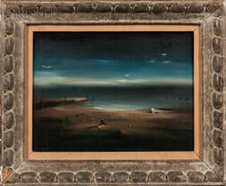 Robert Watson (Arizona/California, 1923-2004)      Moody Beach Scene