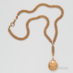 Victorian 18kt Gold Watch Chain and Fob