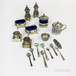 Group of Sterling Silver Salts and Shakers