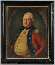 English School, Late 18th/Early 19th century,      Portrait of a British Officer, possibly General Cornwallis