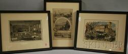 Three Harper's Weekly   Illustration Views of Boston