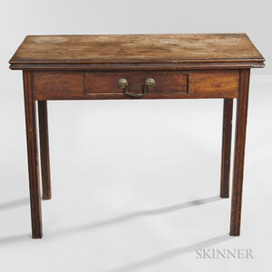 Mahogany Card Table with Drawer