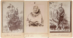 Three Cabinet Card Photos of American Indian Chiefs