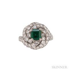 Platinum, Emerald, and Diamond Ring, Van Cleef & Arpels