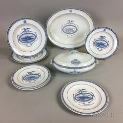 Set of Nine Wedgwood Waltham Commemorative Ceramic Tableware Items