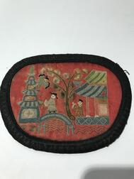 Seven Embroidered Oval Purses