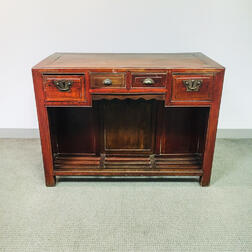 Chinese Elmwood Desk