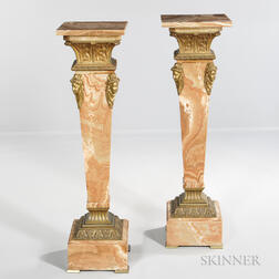 Two Neoclassical-style Marble Pedestals