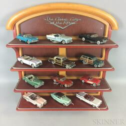 """The Classic Cars of the Fifties"" Display with Twelve Cars"