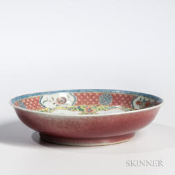 Fencai  -enameled Peachbloom Dish