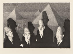 Grant Wood (American, 1891-1942)      Shriner's Quartet