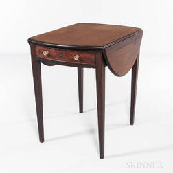 George III Oval Mahogany Pembroke Table