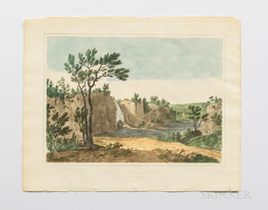 Shaw, Joshua (1776-1860) The Landscape Album. Picturesque Views of American Scenery.