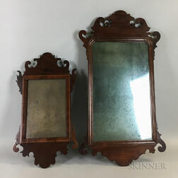 Two Chippendale Scroll-frame Mirrors