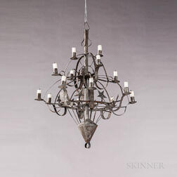 Tin Fourteen-light Star-decorated Chandelier