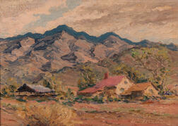 William Darling (American, 1882-1963)      Farms and Mountains