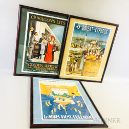 Three Framed Reproduction Travel Posters