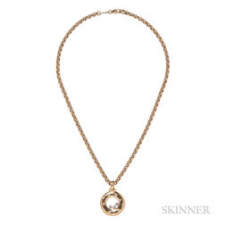 "18kt Gold and Diamond ""Happy Diamonds"" Pendant, Chopard"