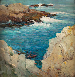 Thomas Shrewsbury Parkhurst (American, 1853-1923)      The Rocky Inlet