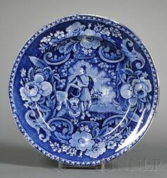Historical Blue Transfer-decorated Plate