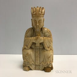 Carved Stone Figure of an Official