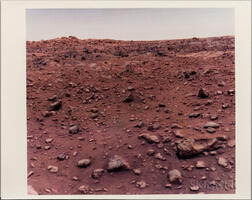 Viking 1, Mars, First Color Photograph Taken on the Surface, July 21, 1976.